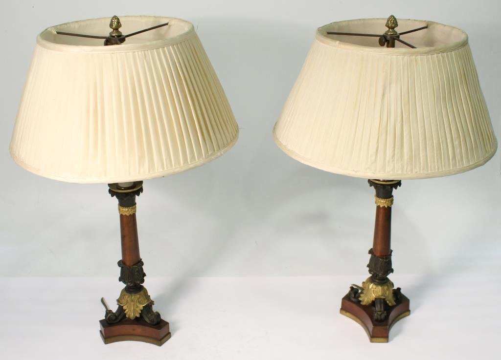 Pair of Small Neoclassical-Style Candle Holders - 2