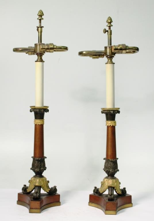 Pair of Small Neoclassical-Style Candle Holders - 3