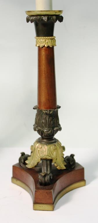 Pair of Small Neoclassical-Style Candle Holders - 4