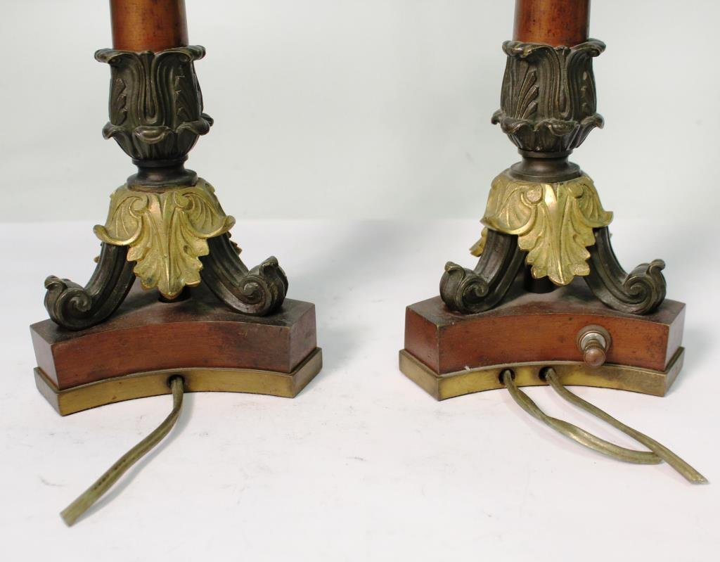 Pair of Small Neoclassical-Style Candle Holders - 6