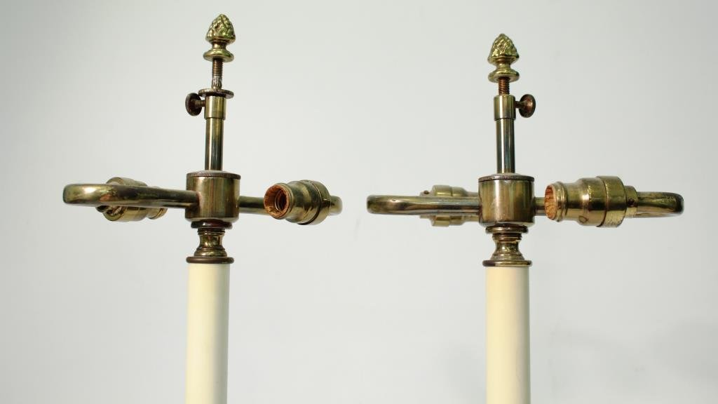 Pair of Small Neoclassical-Style Candle Holders - 7