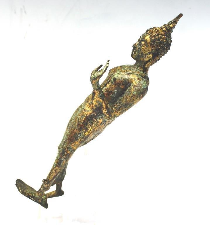 Gilt Brass Figure of a Standing Buddha - 2