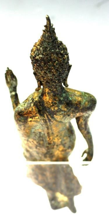 Gilt Brass Figure of a Standing Buddha - 3