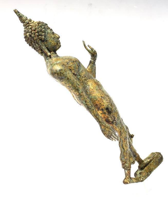 Gilt Brass Figure of a Standing Buddha - 4