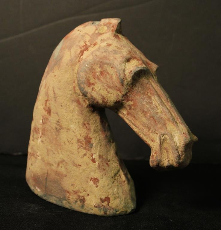 Chinese Han Dynasty Terracotta Horse Head - 3