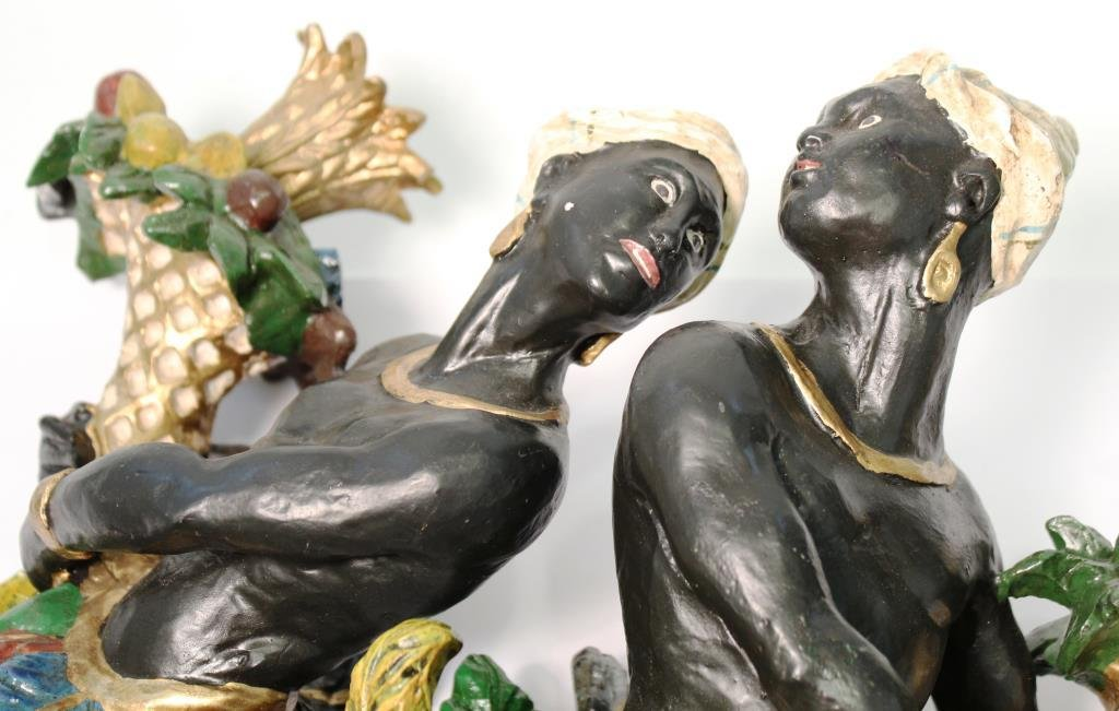 Pair of Vintage Blackamoor Candle Sconces - 3