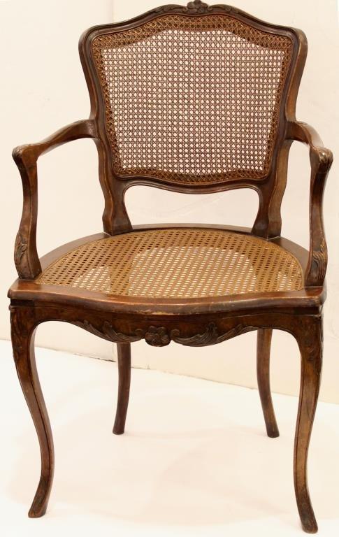 Vintage Louis XV-Style Fauteuil