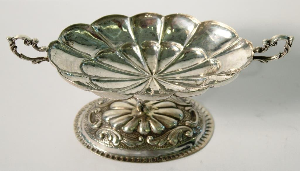 Spanish Silver Oval Compote