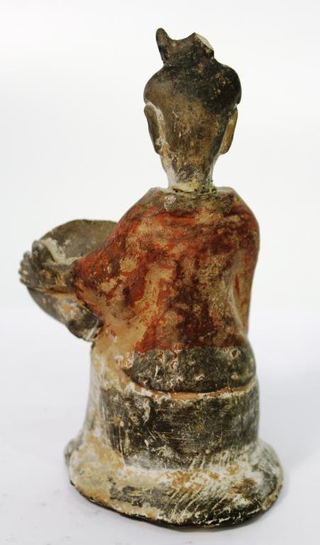 Chinese Tang-Style Pottery Tomb Figure of a Lady - 2