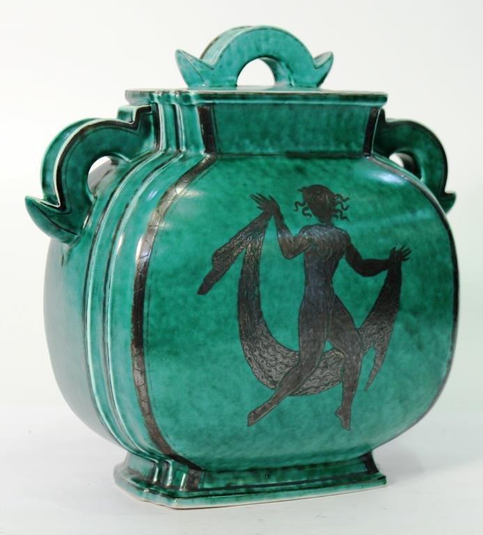 "Gustavsberg ""Argenta"" Lidded Stoneware Container"