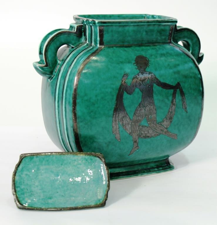 "Gustavsberg ""Argenta"" Lidded Stoneware Container - 2"