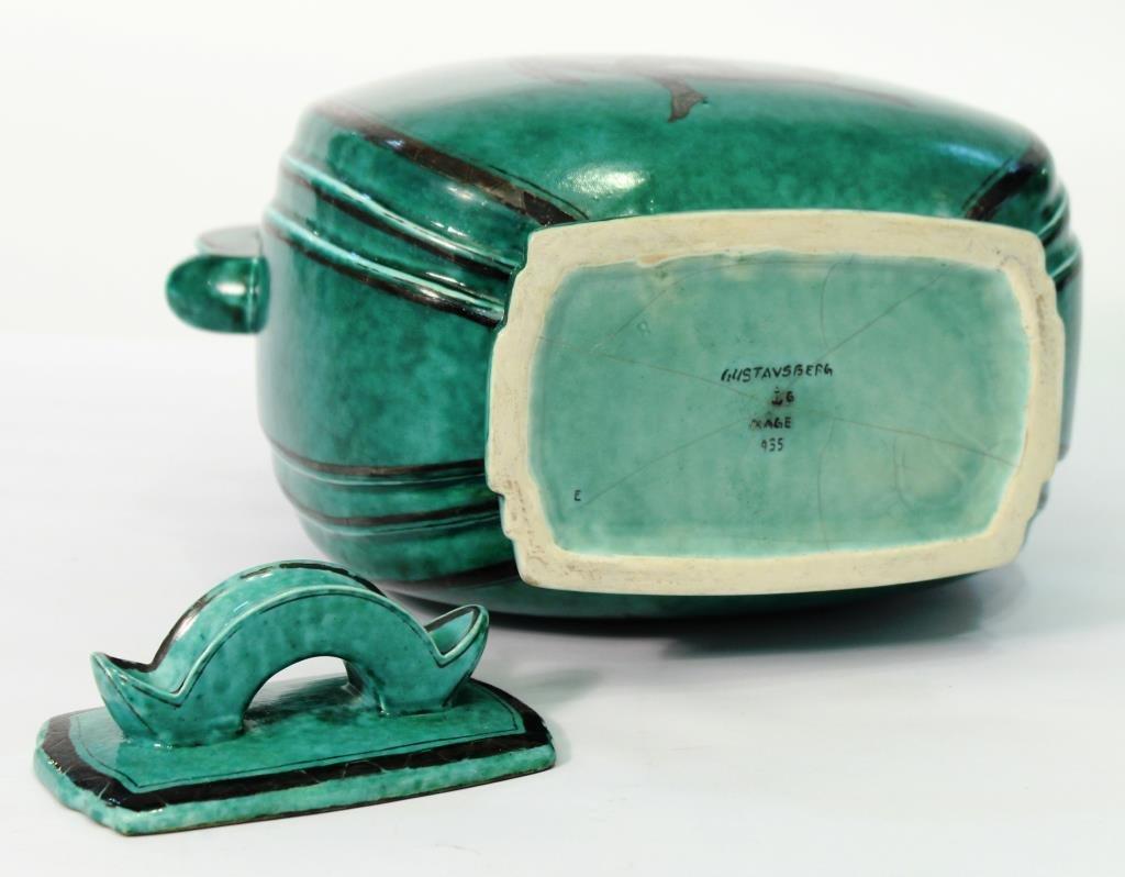 "Gustavsberg ""Argenta"" Lidded Stoneware Container - 3"