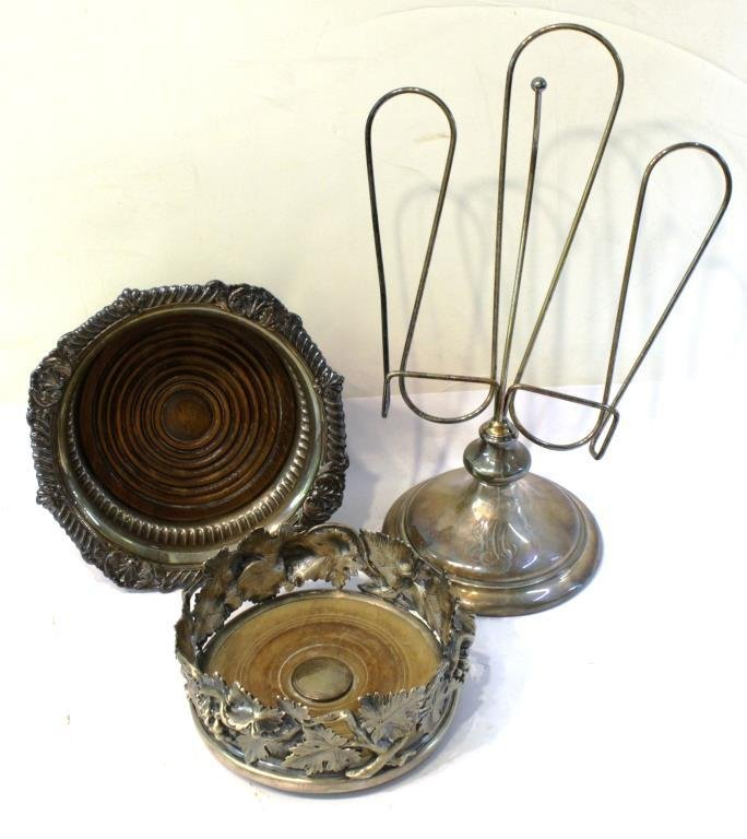 3 Antique Silver-Plate Items - 2