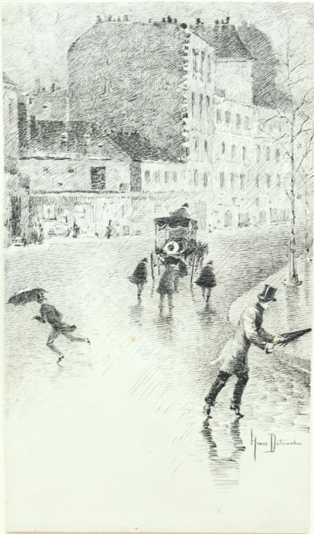 Henri Julien Detouche (French, 1854-1913)- Etching