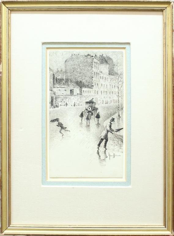 Henri Julien Detouche (French, 1854-1913)- Etching - 2