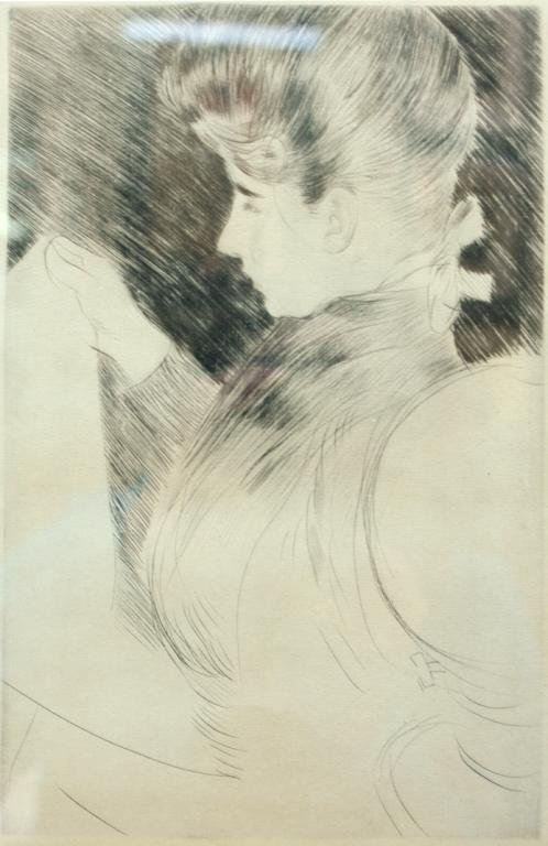 Drypoint, Society Lady, 19th-20th C.