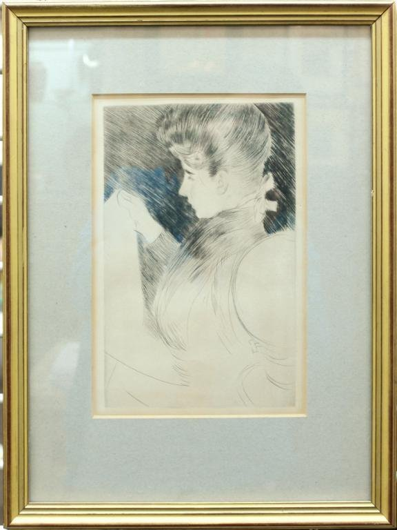Drypoint, Society Lady, 19th-20th C. - 2
