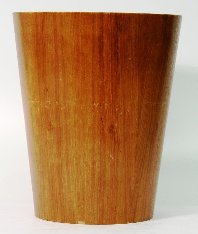 Viking Modernist Bent Plywood Wastebasket