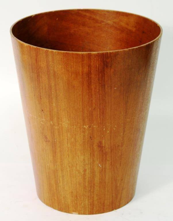 Viking Modernist Bent Plywood Wastebasket - 2