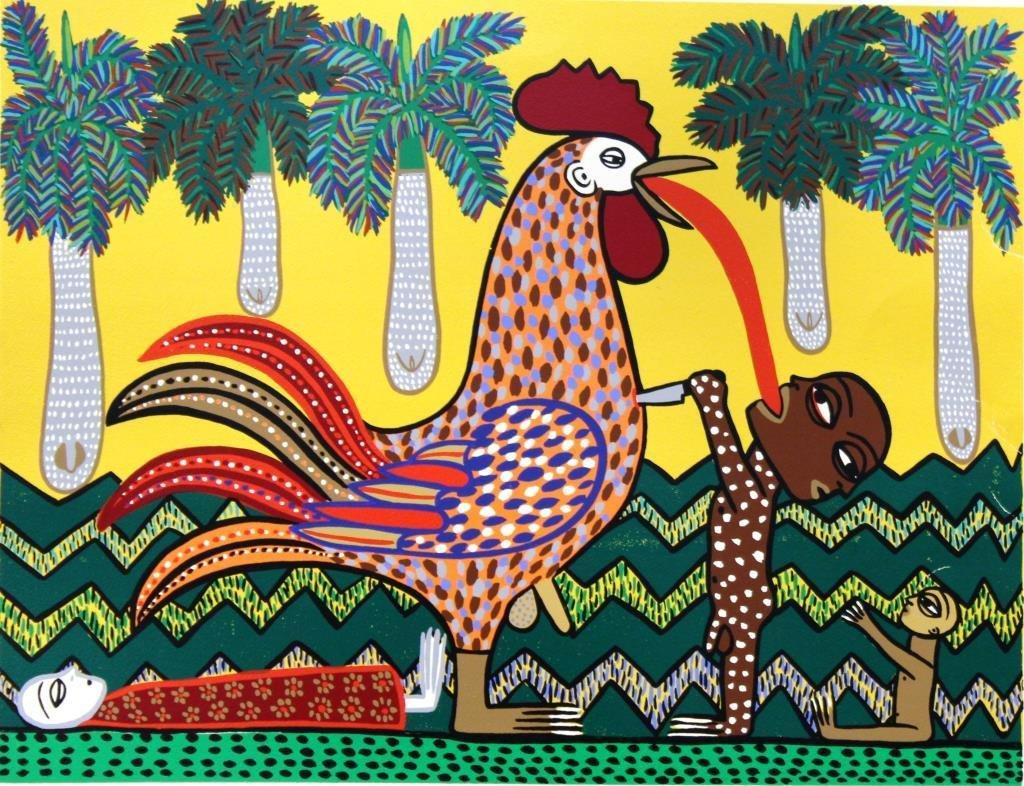 Manuel Mendive (Cuban, born 1944)- Lithograph - 2