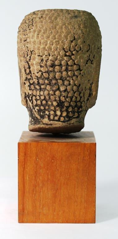 Mon Hariphunchai Stone Buddha Head, Thailand - 2