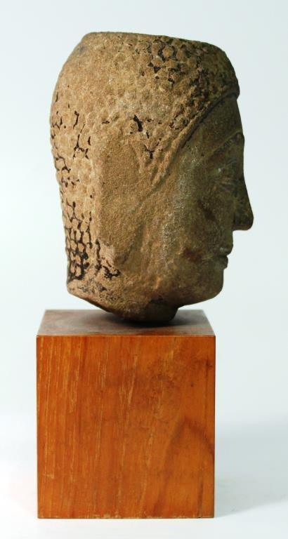 Mon Hariphunchai Stone Buddha Head, Thailand - 3