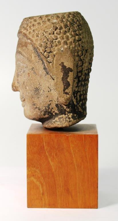 Mon Hariphunchai Stone Buddha Head, Thailand - 5