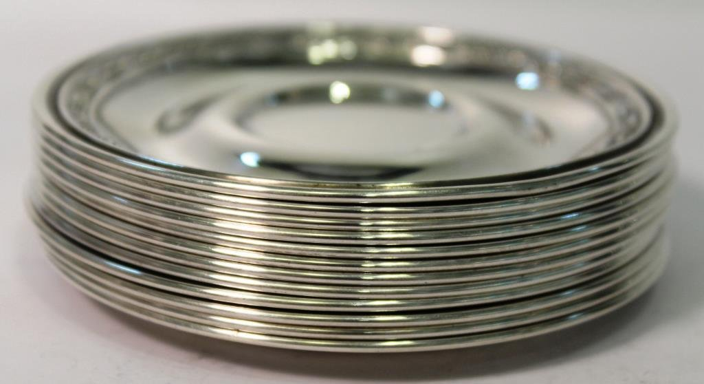 Set of 12 Whiting Sterling Coasters, ca. 1923 - 3