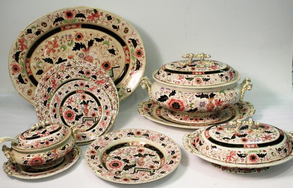 Mason's Ironstone Imari-Style Dishes, ca. 1860 - 2