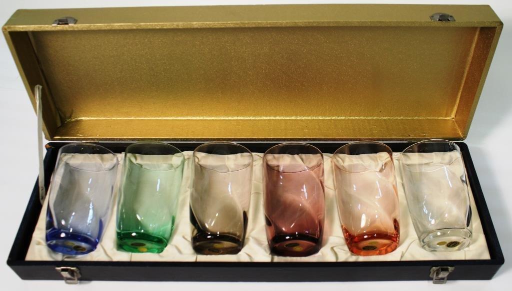 6 American Cut Crystal Co. Water Glasses