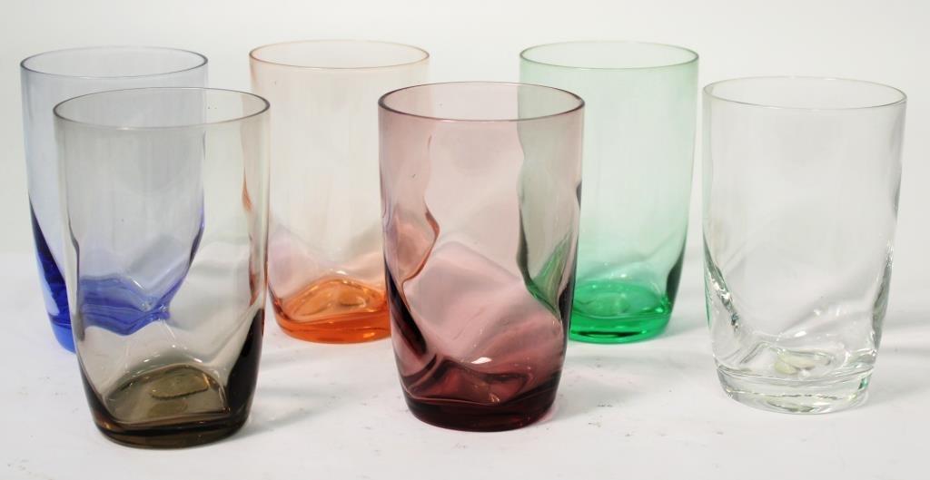 6 American Cut Crystal Co. Water Glasses - 2