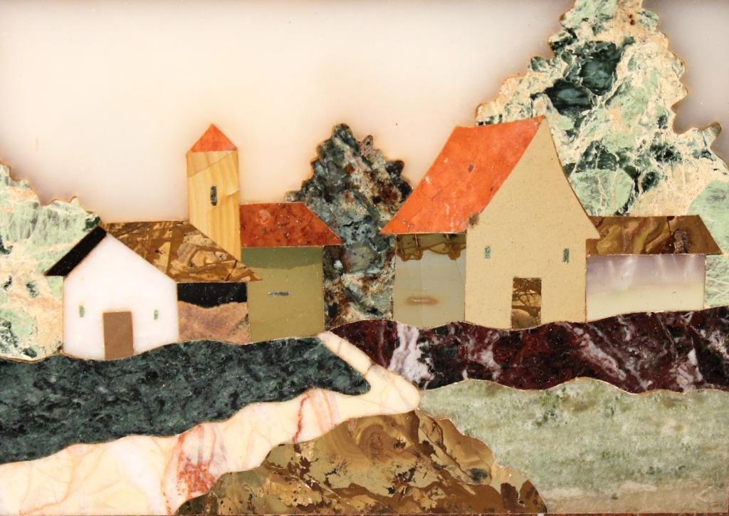 Italian Pietra Dura, Village Scene - 2