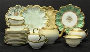 Vintage Haviland Limoges Gilt Porcelain Tea Set
