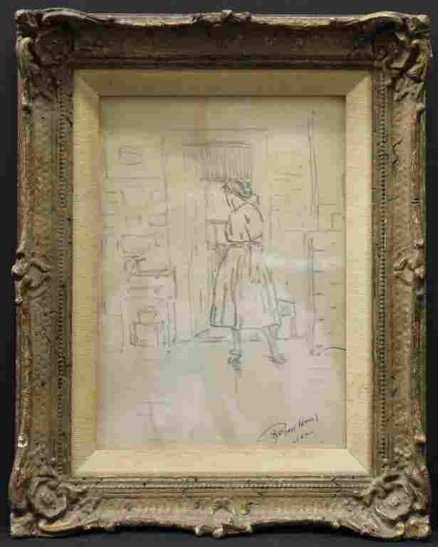Robert Henri (American, 1865-1929)- Drawing