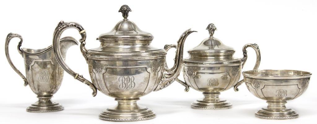 "Towle Sterling ""Louis XV"" Tea & Coffee Service"