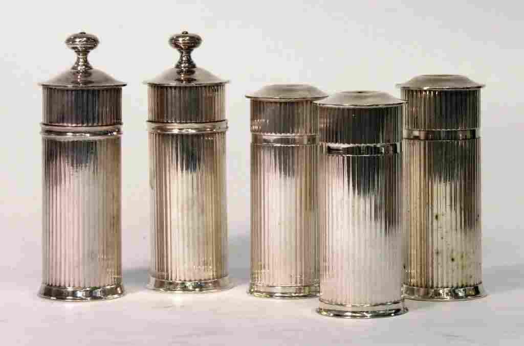 5 Luc Lanel for Christofle Reeded Salts & Peppers