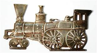 Gorham Sterling Locomotive Christmas Ornament 1975