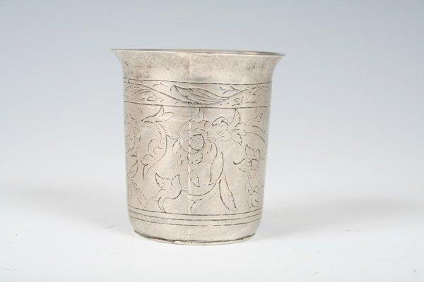 22: 19th C Silver Polish Beaker Marked