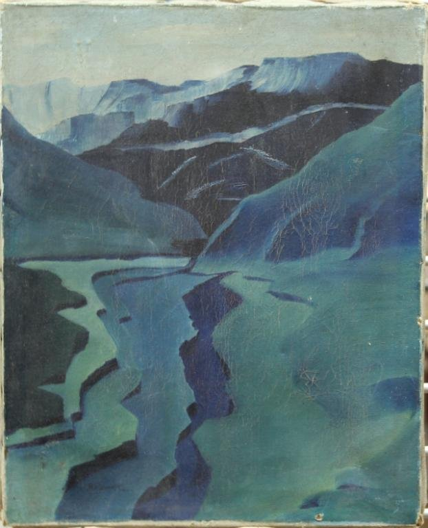 Louis Wolchonok (American, 1898-1973)- Oil