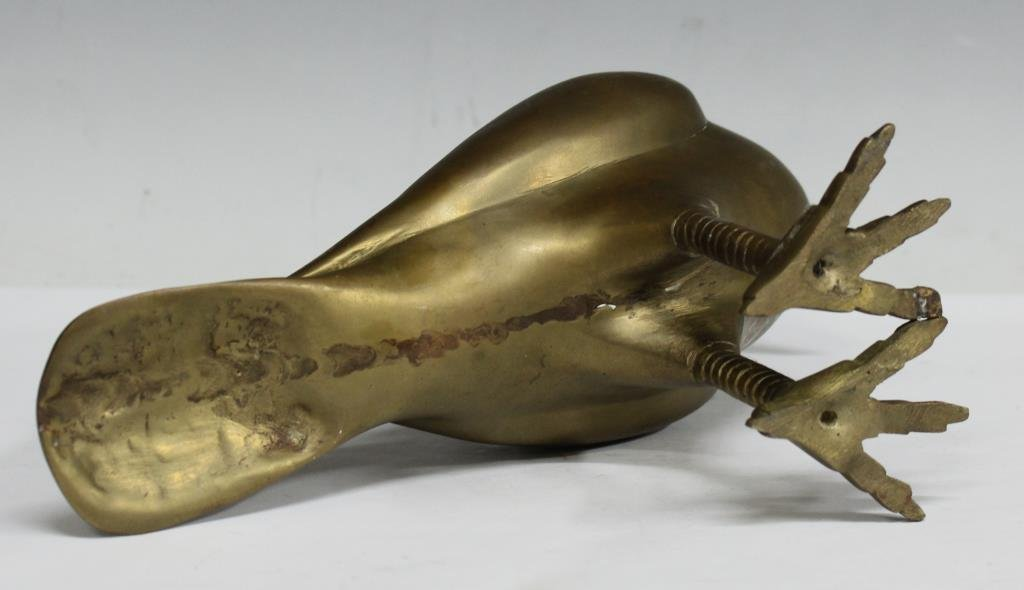 Cast Brass Sculpture of a Homing Pigeon - 3