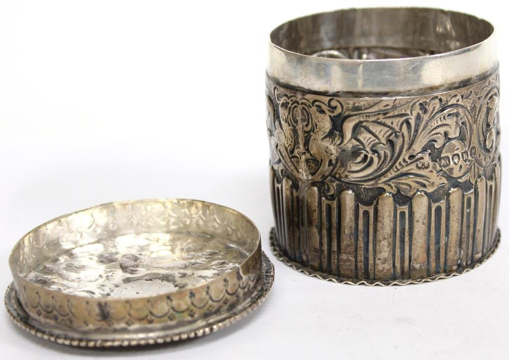 English Sterling Repoussé Container, 1885 - 4
