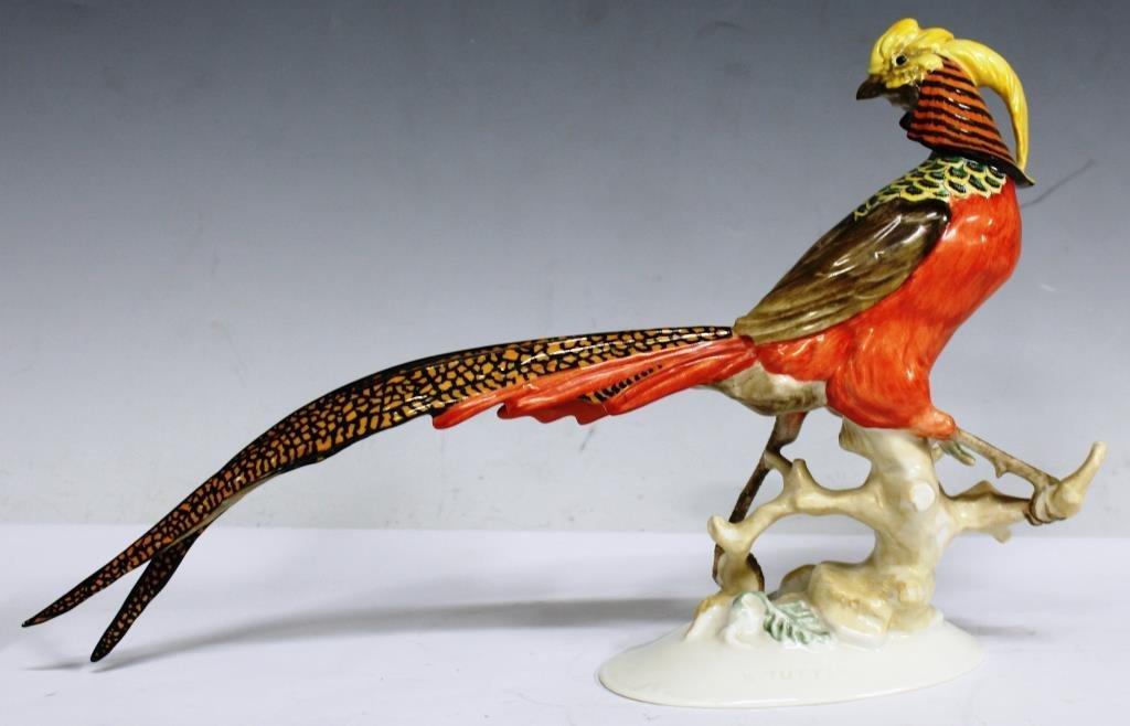 Hutschenreuther Selb Porcelain Golden Pheasant - 2