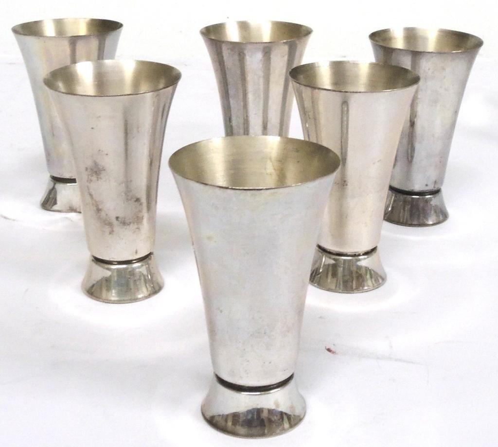 Set of 6 Sterling Shot Glasses