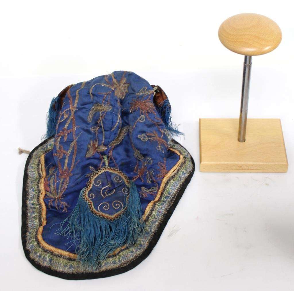 Chinese Silk Embroidered Boy's Headdress / Hat - 4