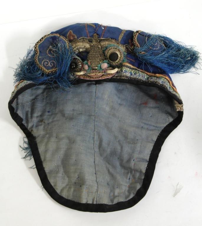 Chinese Silk Embroidered Boy's Headdress / Hat - 5