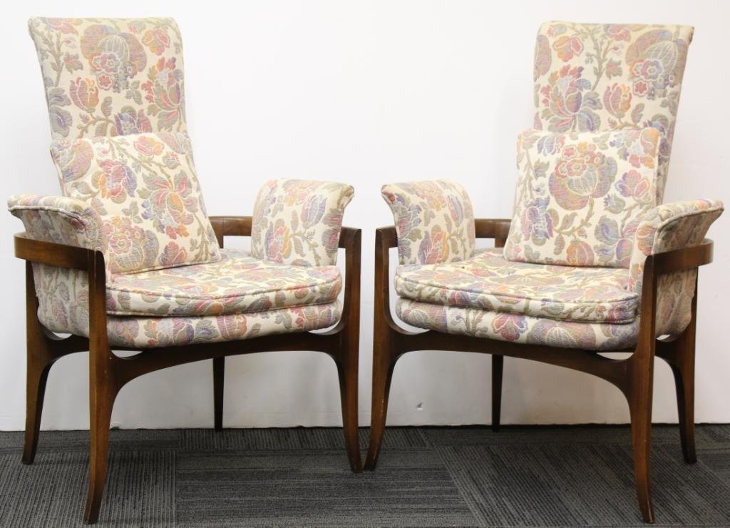 Pair of Mid-Century Modern Upholstered Chairs