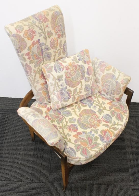 Pair of Mid-Century Modern Upholstered Chairs - 3