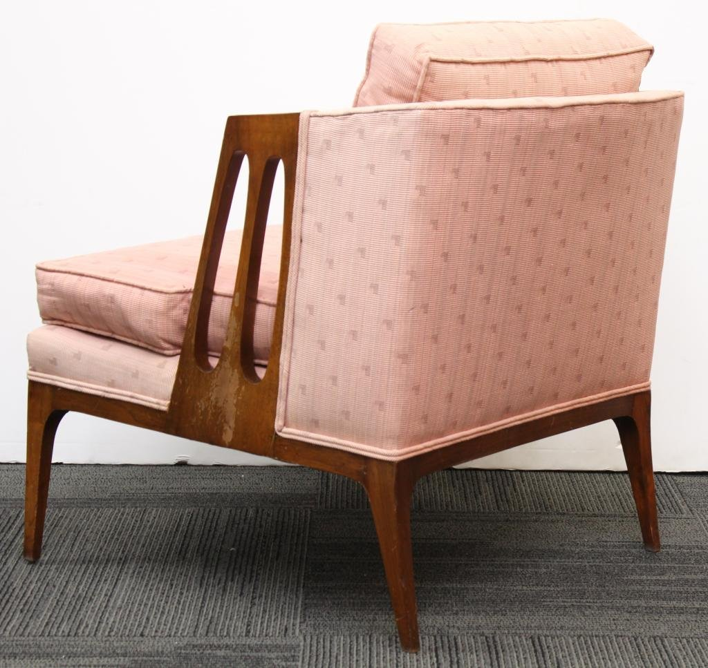 Pair of Mid-Century Modern Upholstered Chairs - 2