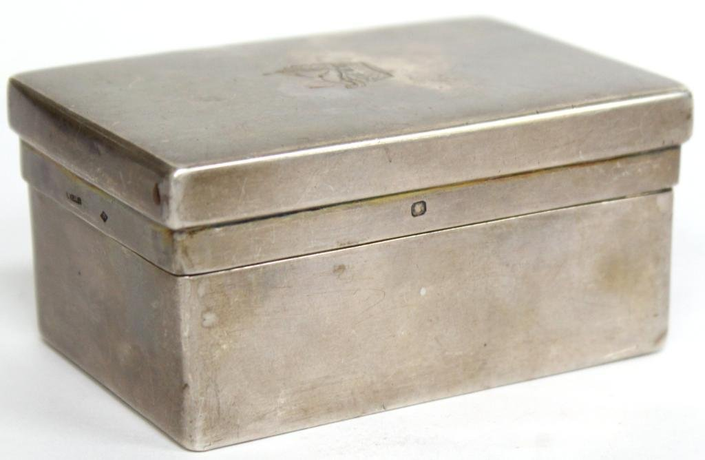 Small French .950 Silver & Vermeil Box