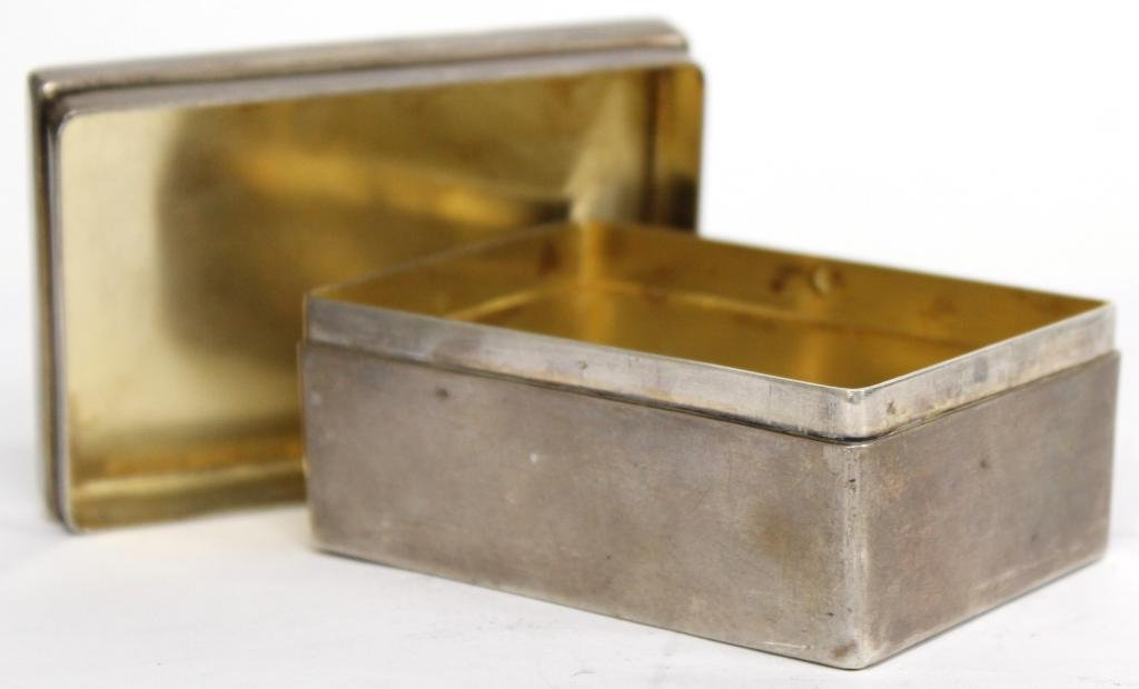 Small French .950 Silver & Vermeil Box - 3
